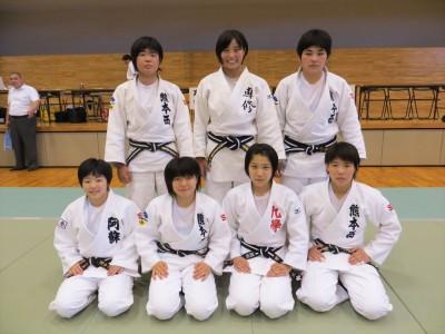 平成27年度熊本県高校総体柔道競技男子団体、女子個人結果