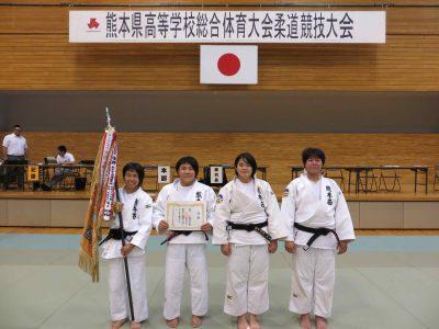 平成30年度熊本県高等学校総合体育大会柔道競技女子団体結果について
