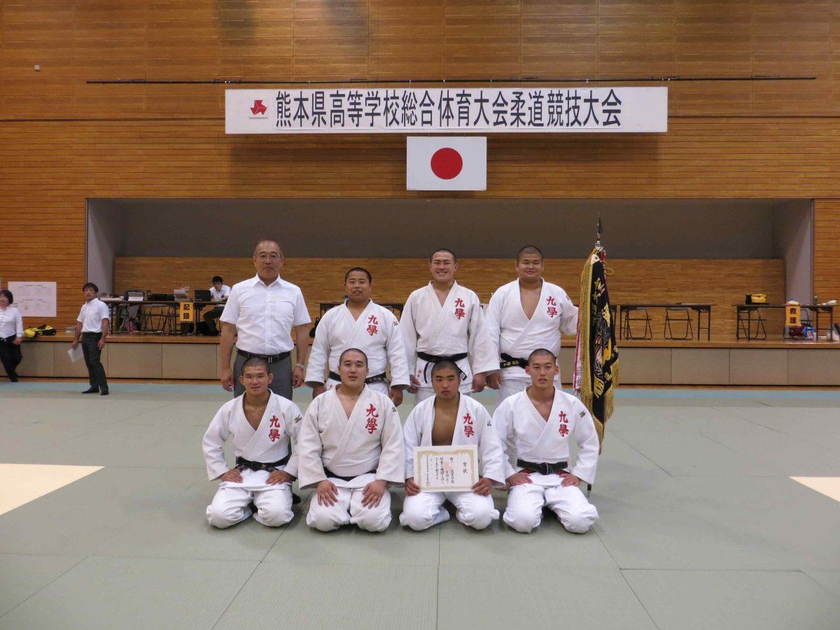 平成30年度熊本県高等学校総合体育大会柔道競技男子団体及び女子個人結果について